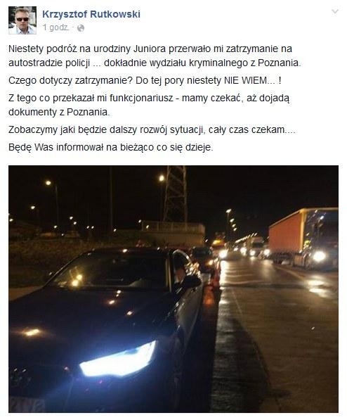 Facebook Krzysztofa Rutkowskiego /facebook.com