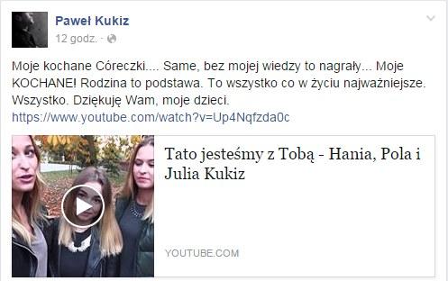 Facebook Pawła Kukiza /facebook.com