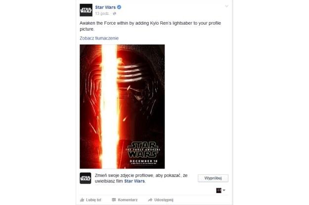 Facebook postanowił  wyróżnić fanów gwiezdnej sagi /INTERIA.PL