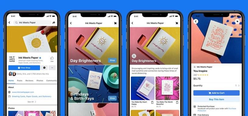 Facebook uruchamia usługę Shops /materiały prasowe