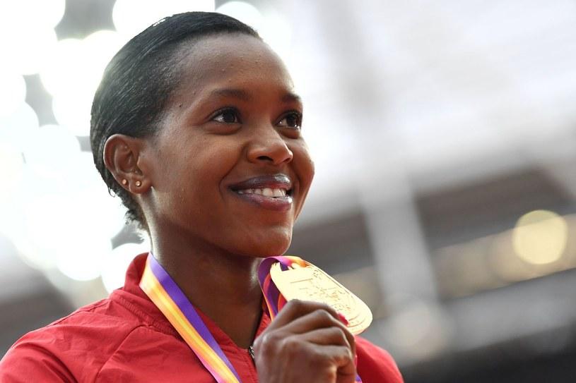 Faith Kipyegon, kenijska mistrzyni świata w biegu na 1500 m /AFP