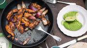 Fajita z kurczakiem, bakłażanem i papryką
