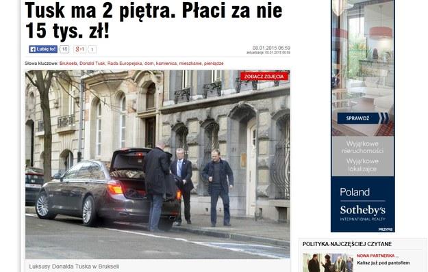"""""""Fakt"""" prezentuje zdjęcia kamienicy, w której Tusk mieszka w Brukseli /""""Fakt"""" /"""