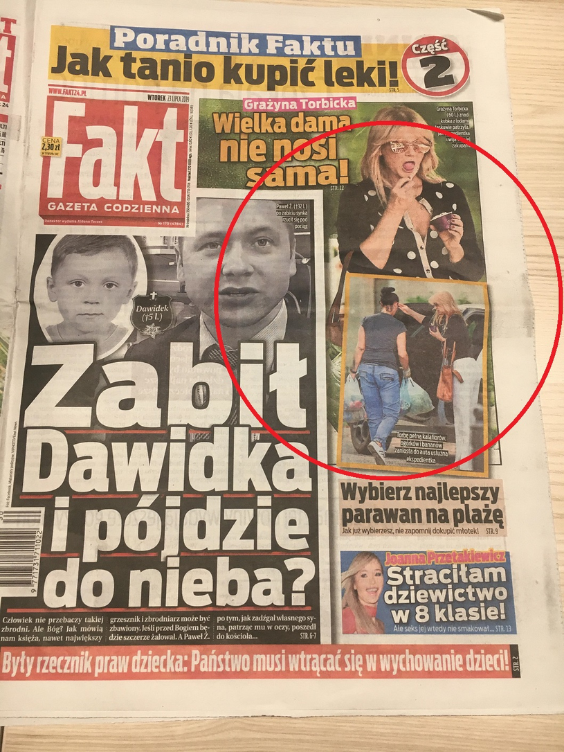 """""""Fakt"""" zamieścił zdjęcia Grażyny Torbickiej zrobione podczas zakupów /materiał zewnętrzny"""