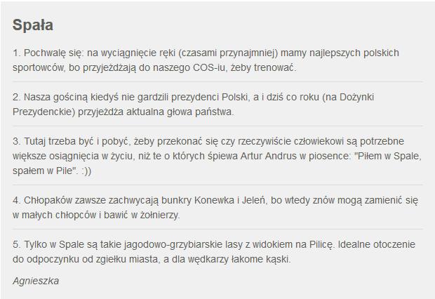 Fakty z Twojego Miasta. Zgłoszenie Spały /RMF24