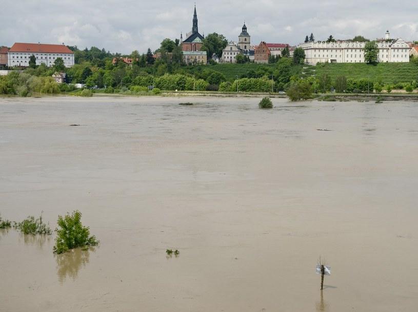 Fala powodziowa na Wiśle w Sandomierzu /Piotr Tracz /Reporter