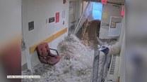 Fala powodziowa wdarła się do szpitala w Massachusetts. Dramatyczne nagranie z kamer monitoringu
