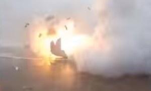 Falcon 9 eksplodował tuż po lądowaniu