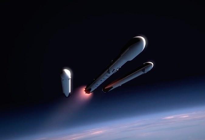 Falcon Heavy, wizja artysty /materiały prasowe