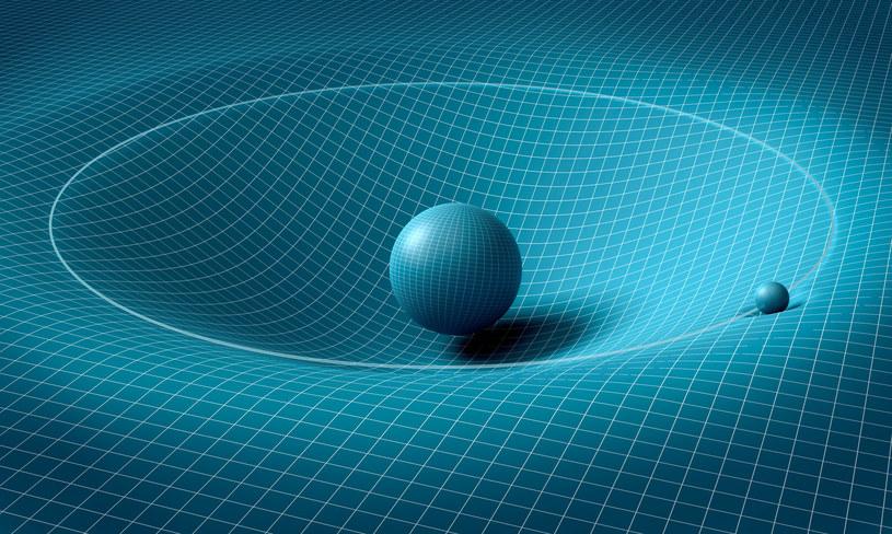 """Fale grawitacyjne są nazywane """"zmarszczkami czasoprzestrzeni"""" /123RF/PICSEL"""