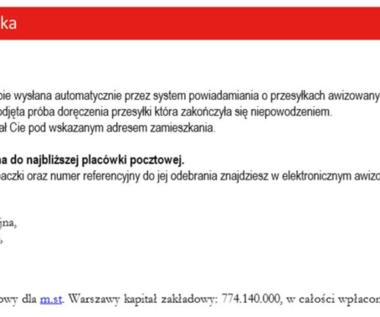 Fałszywe powiadomienia od Poczty Polskiej. Uwaga na oszustwo!