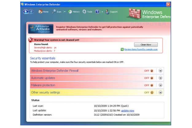 Fałszywy program Windows Enterprise Defender /materiały prasowe