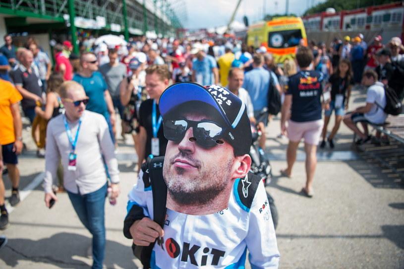 Fan Roberta Kubicy na torze Hungaroring /PAP/EPA