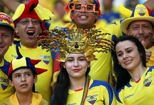 Fani drużyny z Ekwadoru /Oliver Weiken /PAP/EPA