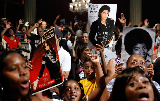 Fani Jacksona w amfiteatrze Apollo w Nowym Jorku 30 czerwca  /Agencja FORUM