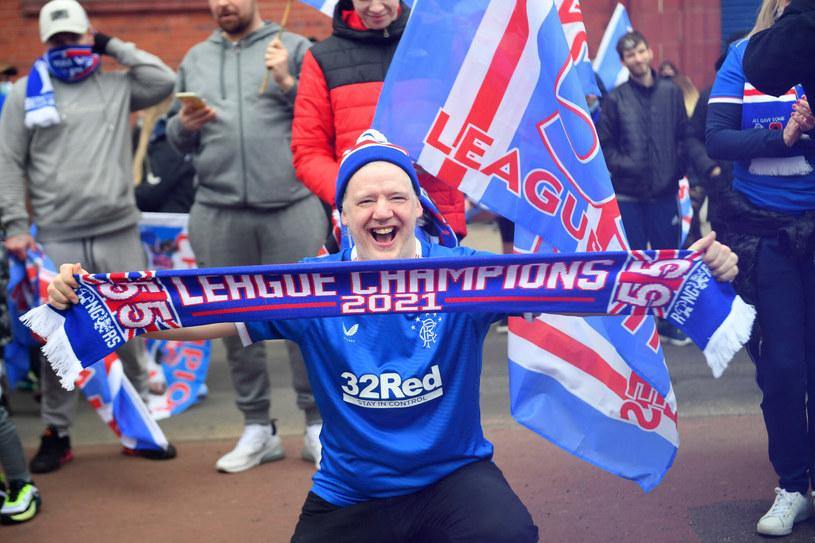 Fani Rangers świętujący tegoroczne mistrzostwo Szkocji /ANDY BUCHANAN/AFP/East News /East News