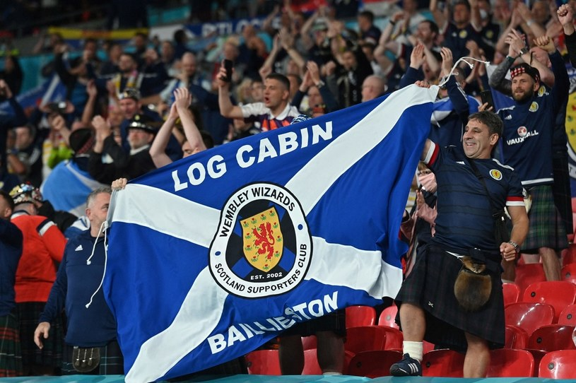 Fani reprezentacji Szkocji /JUSTIN TALLIS /AFP