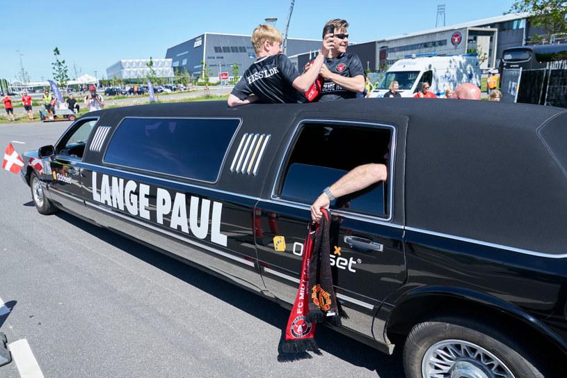 Fani w Danii w taki sposób oglądali mecz obu drużyn /Getty Images