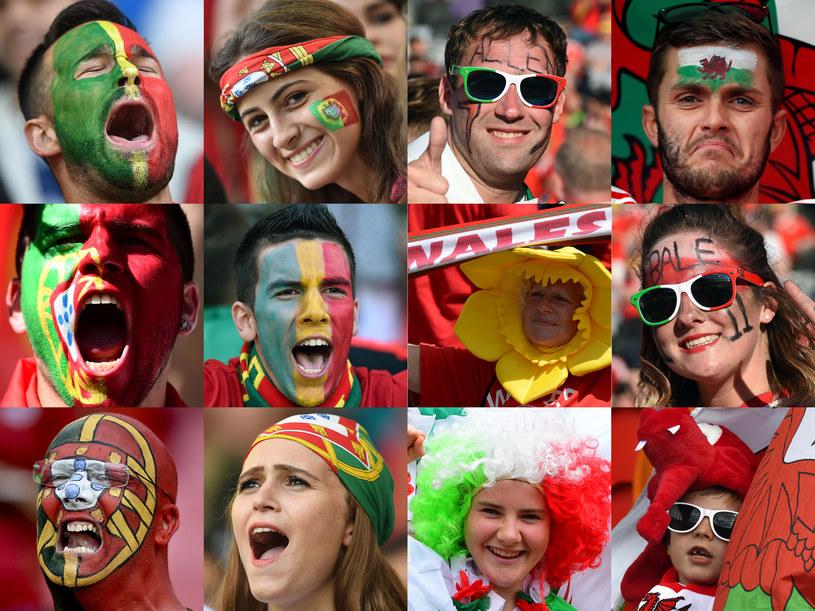 Fani Walii i Portugalii już w Lyonie. /AFP