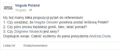 Fanpage Vogule Poland na Facebooku /Facebook