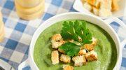 Fasolowa zupa krem z grzankami