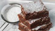 Fasolowe brownie z siemieniem lnianym i rodzynkami