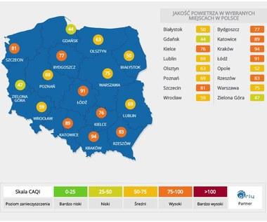 Fatalna jakość powietrza na południu Polski