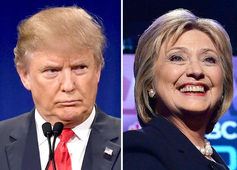 Faworyci w walce o fotel prezydenta - Hillary Clinton i Donald Trump /AFP