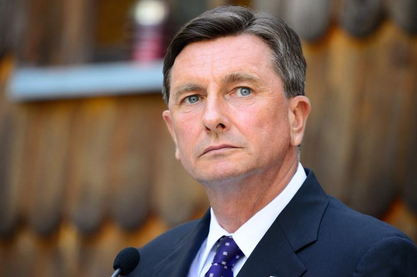 Faworytem jest obecny prezydent Borut Pahor /Jure MAKOVEC /AFP