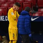 FC Barcelona. Gerard Pique i Sergi Roberto kontuzjowani po meczu z Atletico Madryt