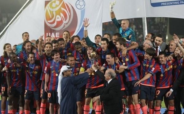 FC Barcelona - Królowie roku 2009 /AFP