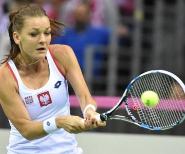 Fed Cup Polska - Rosja: Agnieszka Radwańska - Maria Szarapowa 1:6, 5:7