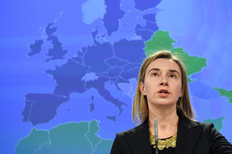 Federica Mogherini broni stanowiska KE /AFP