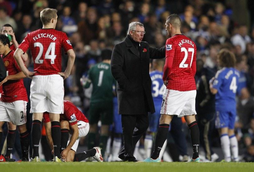 Federico Macheda w rozmowie z menedżerem Manchesteru United Aleksem Fergusonem /AFP