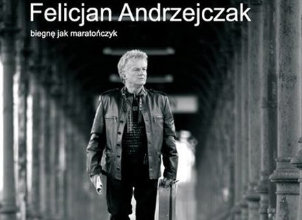 """Felicjan Andrzejczak na okładce płyty """"Biegnę jak maratończyk"""" /"""