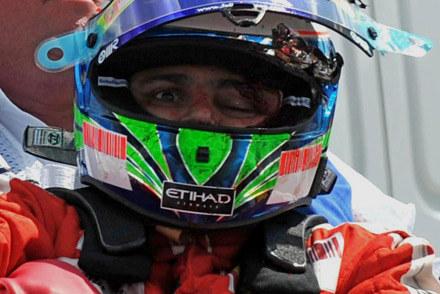 Felipe Massa chwilę po wypadku /INTERIA.PL/PAP