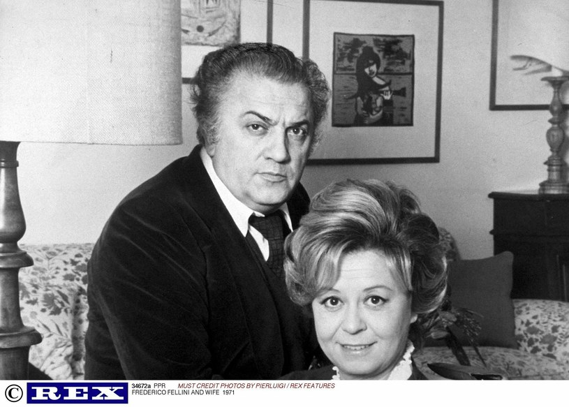 Fellini i Masina w 1971 roku /Rex Features /East News
