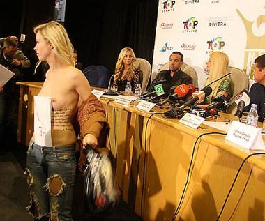 Feministka przerwała konferencję z Paris Hilton