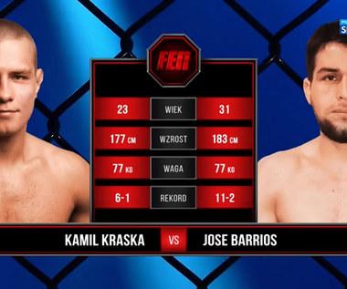 FEN 35. Kamil Kraska - Jose Barrios. Skrót walki (POLSAT SPORT). Wideo