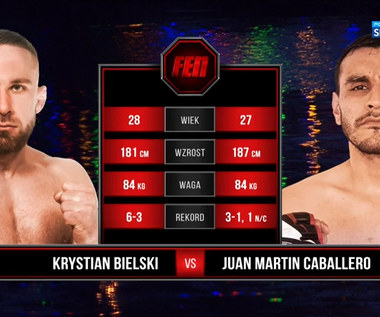 FEN 35. Krystian Bielski - Juan Caballero. Skrót walki (POLSAT SPORT). Wideo