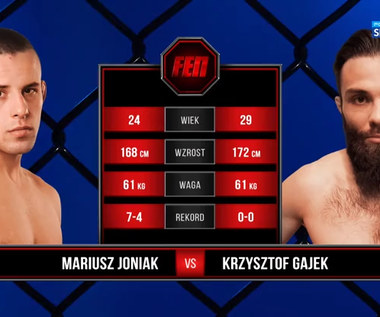 FEN 35. Mariusz Joniak - Krzysztof Gajek. Skrót walki (POLSAT SPORT). Wideo