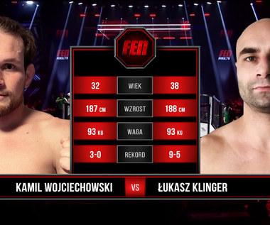 FEN 36. Kamil Wojciechowski - Łukasz Klinger. Efektowny nokaut w pierwszej rundzie. WIDEO (Polsat Sport)