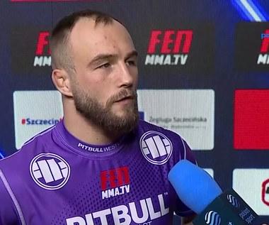 "FEN 36. Mateusz Rębecki: Mój rywal ma dziurawą ""stójkę"". WIDEO (Polsat Sport)"