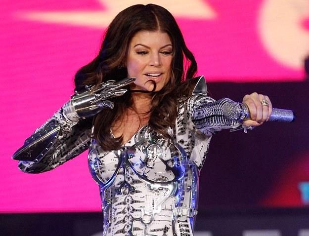 Fergie podczas koncertu Black Eyed Peas na Times Square - fot. Joe Kohen /Getty Images/Flash Press Media