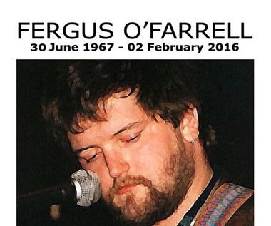 Fergus O'Farrell nie żyje. Wokalista Interference miał 48 lat