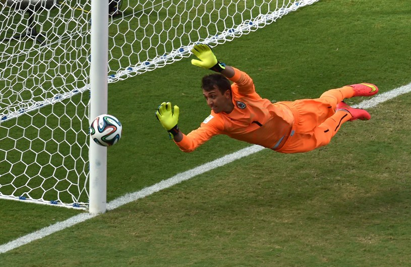 Fernando Muslera podczas mundialu w Brazylii /AFP