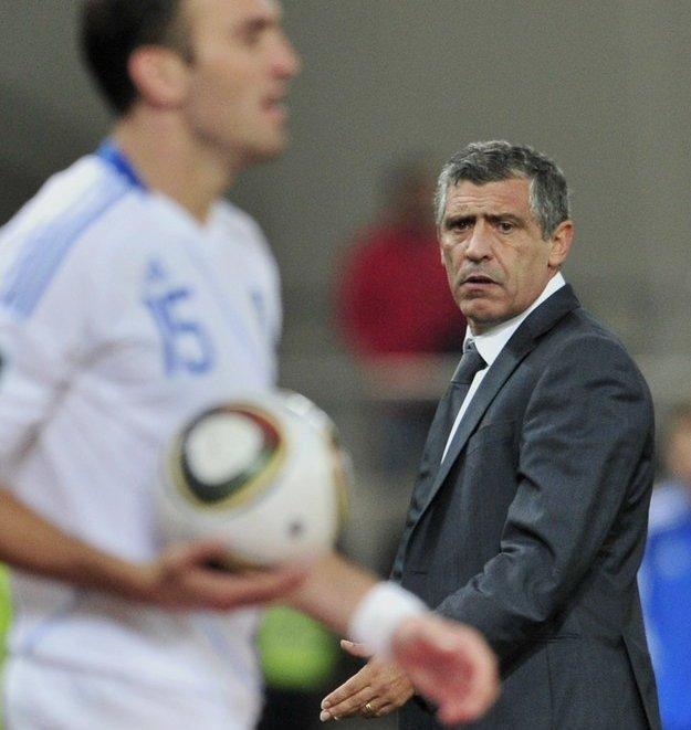 Fernando Santos, trener reprezentacji Grecji /AFP