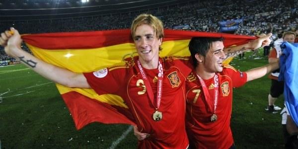 Fernando Torres i David Villa /AFP