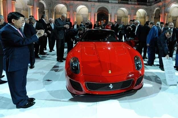 Ferrari  599 GTO podczas prezentacji w Pałacu Dożów /INTERIA.PL