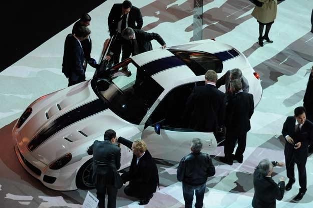 Ferrari  599 GTO podczas prezentacji w Pałacu Dożów /